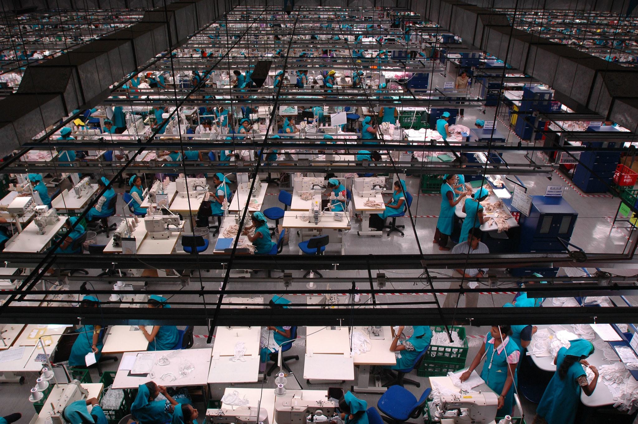 Women workers at a garment factory in Sri Lanka.