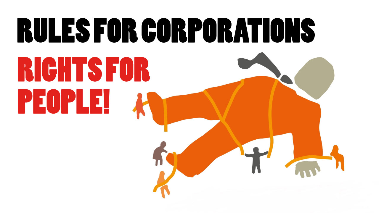 Rules for corporations, rights for people!