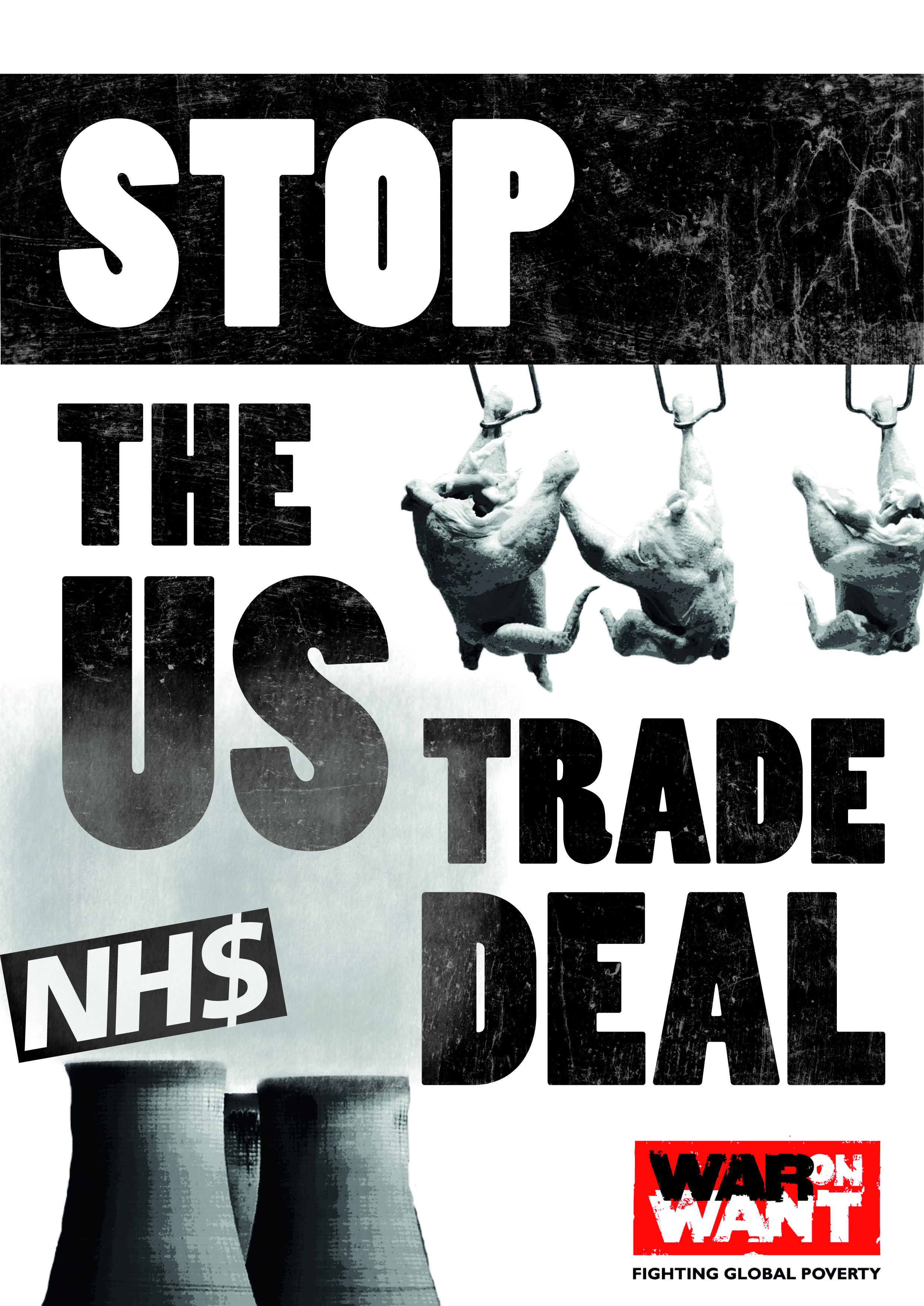 STOP THE US TRADE DEAL poster