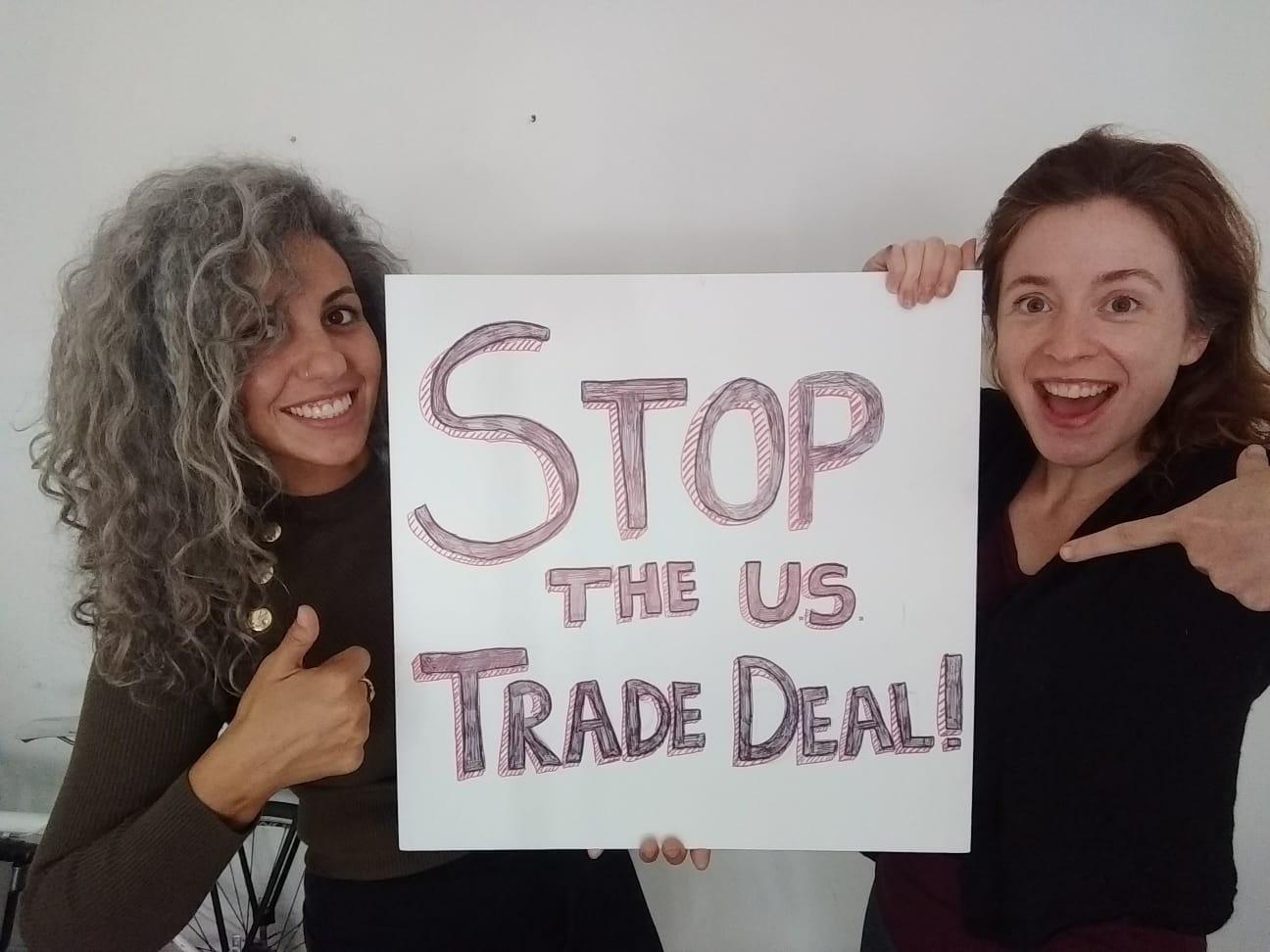 Stop the US Trade Deal selfie