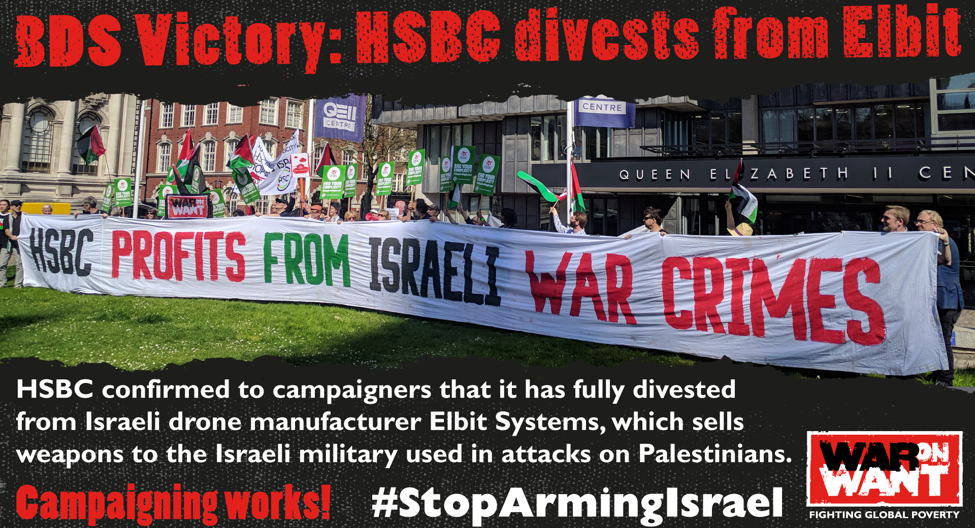 BDS Victory: HSBC Divests from Elbit | War on Want