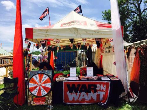 Trade Stands Glastonbury : Glastonbury says no to ttip war on want