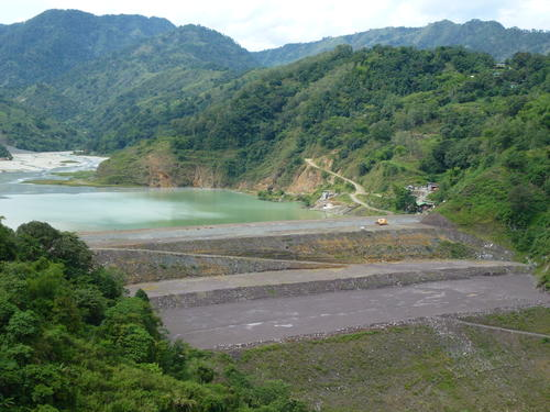Mine's dam polluting land